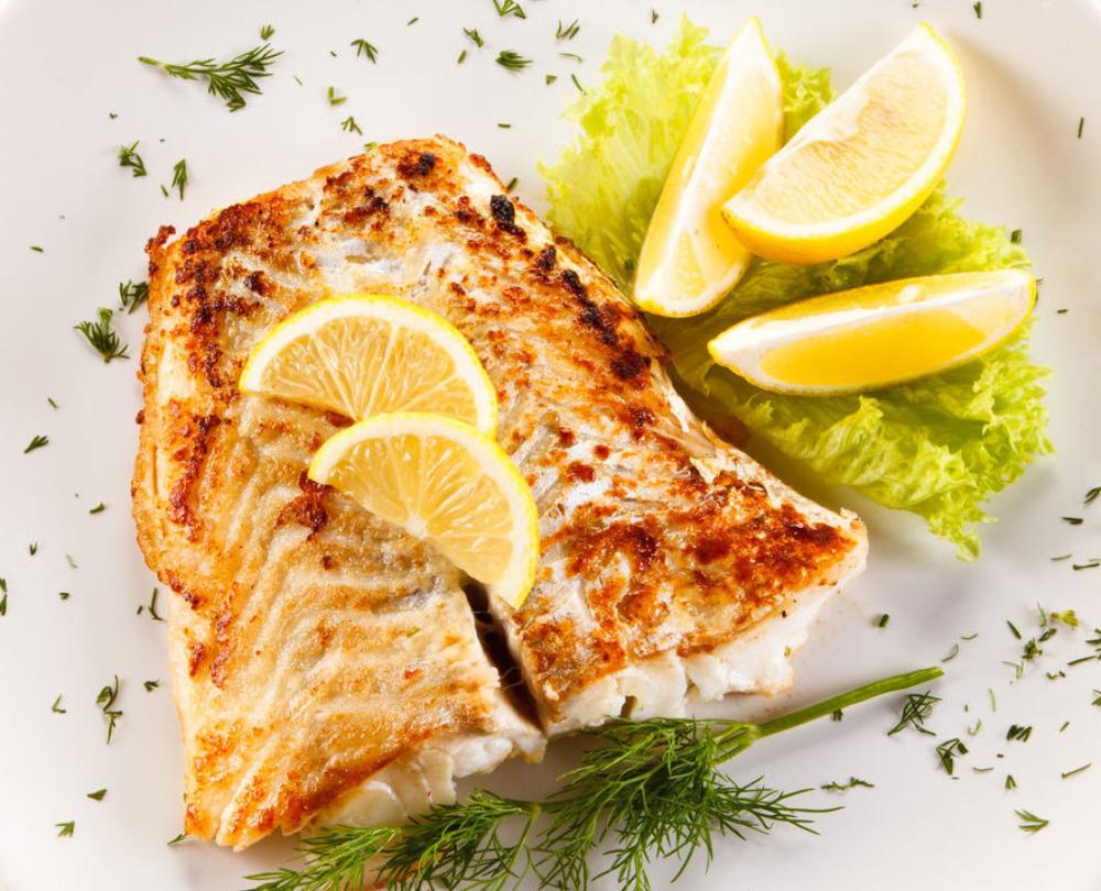 cá bơn nướng